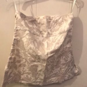 J CREW strapless top.  EUC Size 4